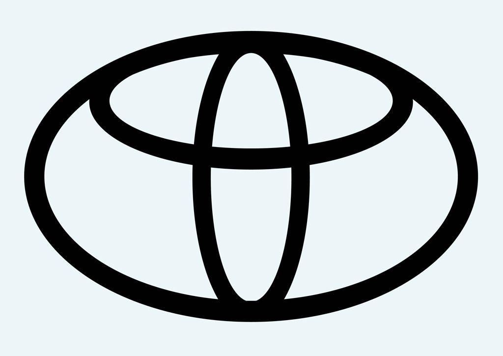 Black and White Toyota Logo.