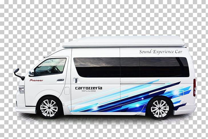 Compact van Toyota HiAce Car Minivan, toyota PNG clipart.