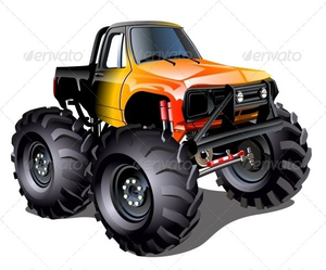 Cartoon Toyota Truck Clipart.