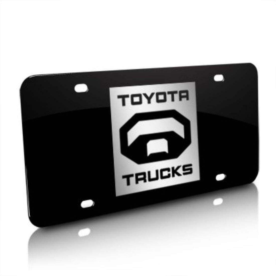 Amazon.com: Toyota Trucks Logo Black Steel License Plate.