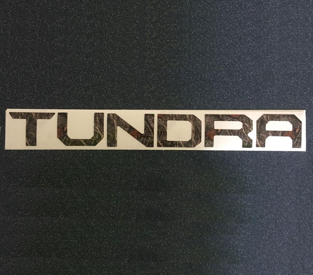 2016 Toyota Tundra Camo Tailgate Insert.