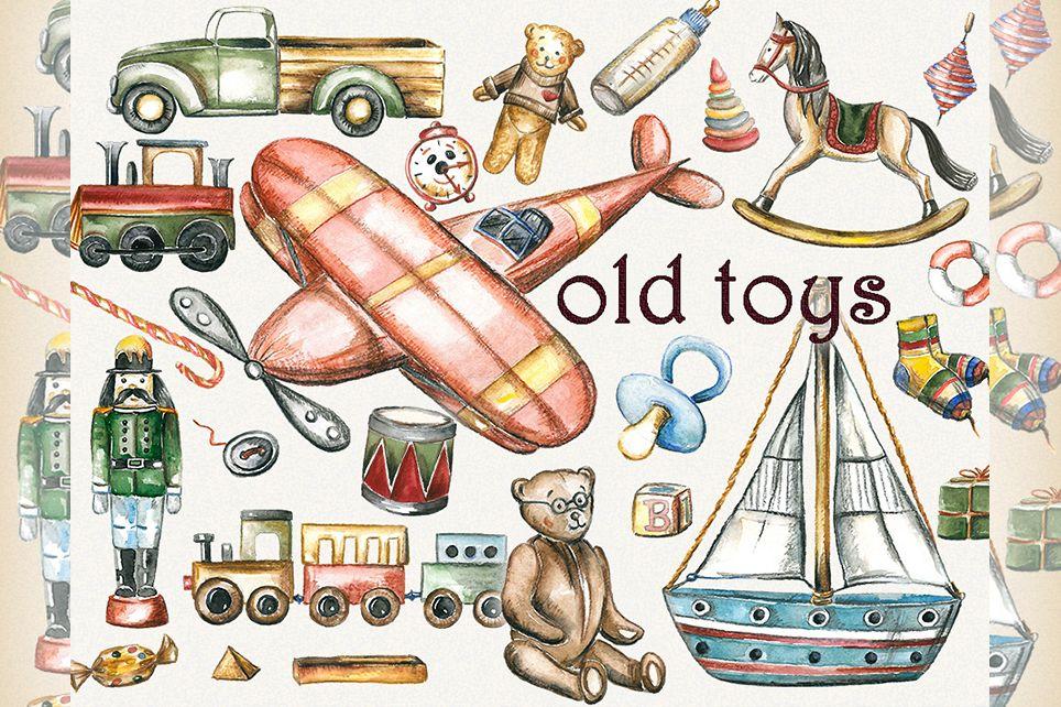 Toy clipart, toys clipart, old toys clipart, kids clipart.