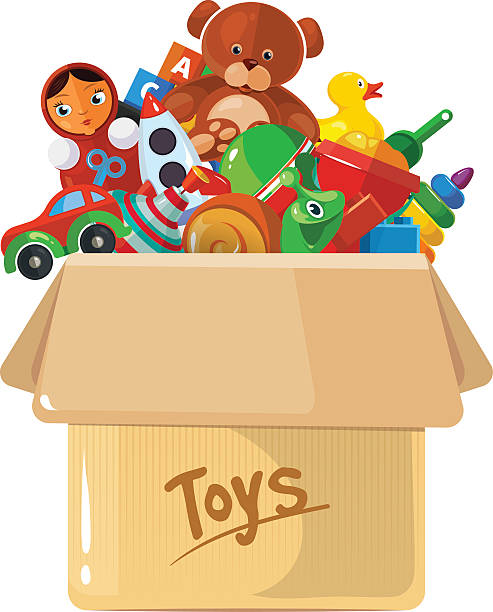 Box Of Toys Clipart.