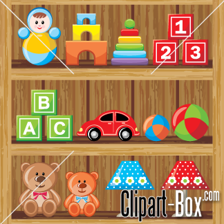 kids clipart getting toy shopong.