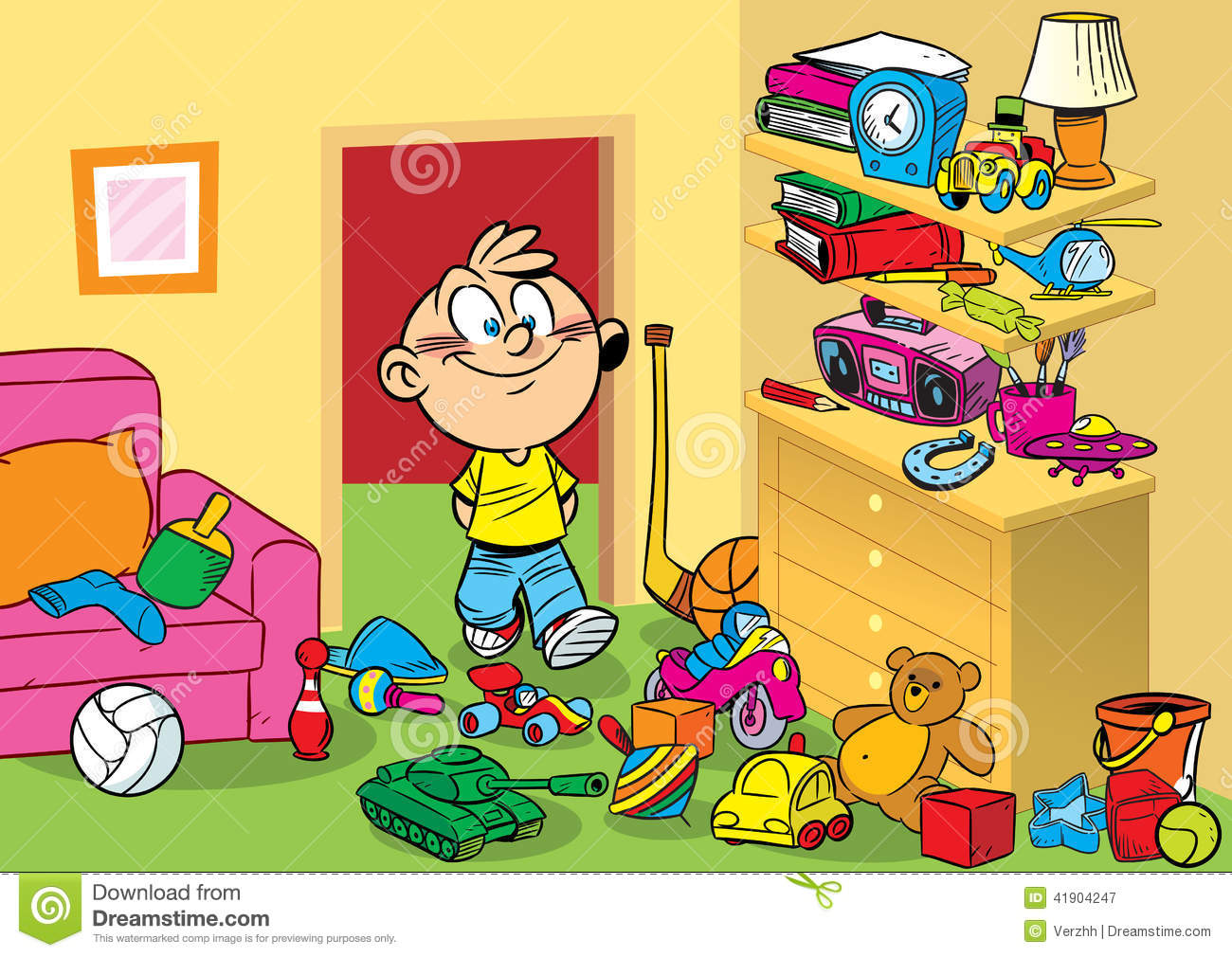 Messy Toys Clipart.