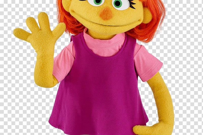 Meet Julia Mr. Hooper Elmo Sesame Street characters, muppets.