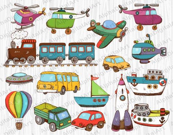 16 Kids Toys clipart,Kids clipart,Kids clipart set, digital.