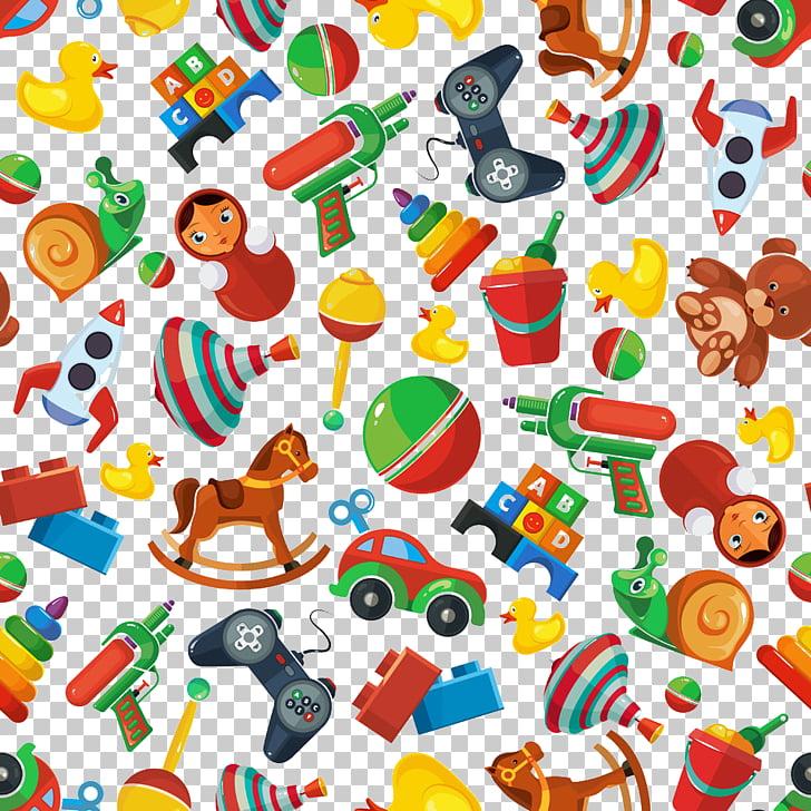 Toy Child Illustration, Cartoon toys background, assorted.