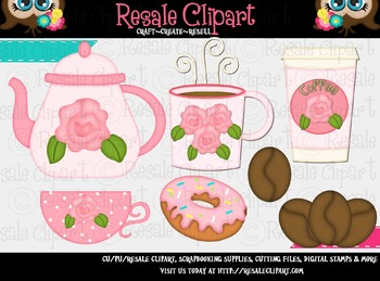 Coffee And Donuts 2 ClipArt.