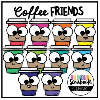 Coffee Friends FREEBIE (Clip Art for Personal & Commercial.