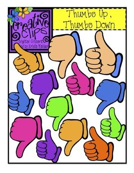 FREE Thumbs Up, Thumbs Down {Creative Clips Digital Clipart.
