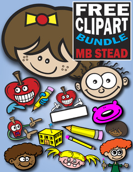 SCHOOL CLIP ART: kids, apples, pencils and more!.