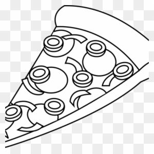 Pizza Slice Clipart Black And White, Tra #139549.