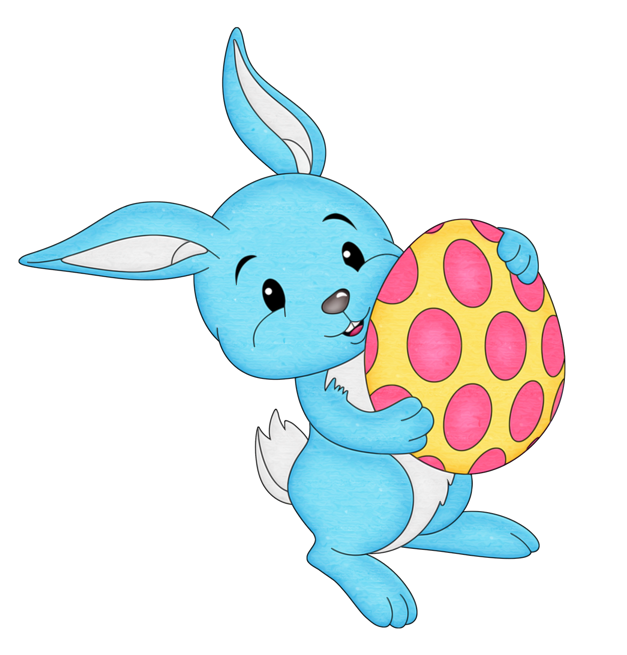 Blue Bunny Clip Art.
