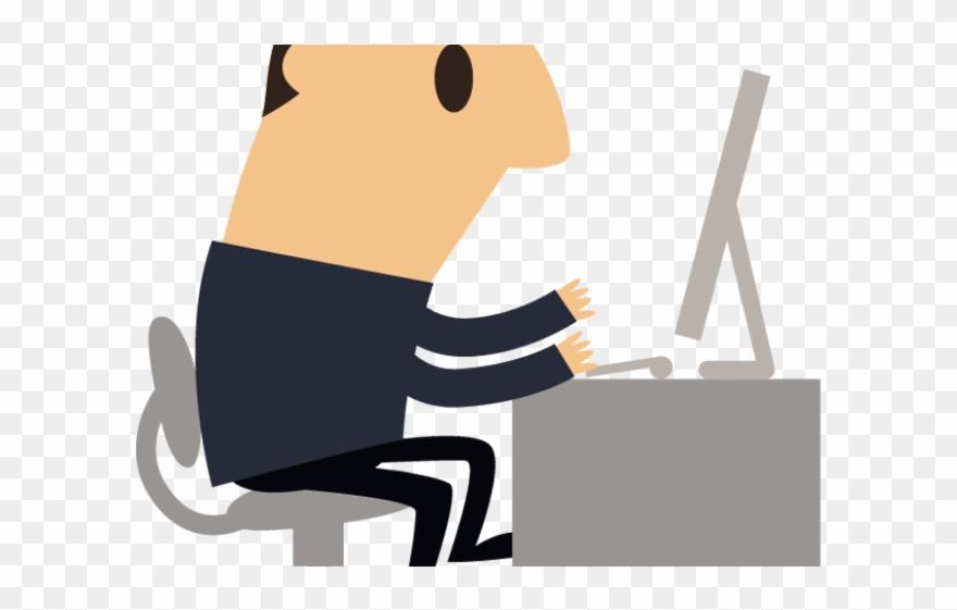 Businessman Clipart Computer.