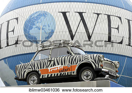 """Stock Images of """"Trabant car advertising sightseeing tours by."""