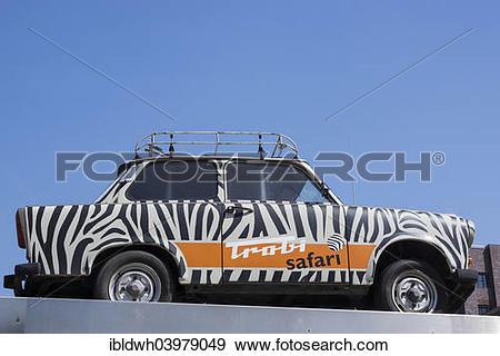 "Stock Photograph of ""Trabi Safari, Trabant car or Trabi, Berlin."