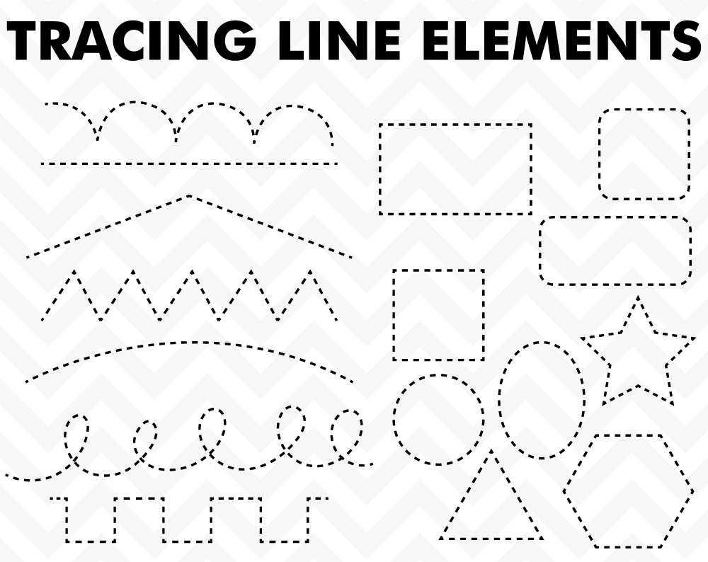 80% OFF Sale Clipart Tracing Elements Trace by SonyaDeHartDesign.