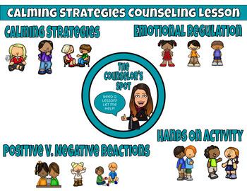 Calming Strategies / Coping Skills No Prep Lesson Plan (PreK.