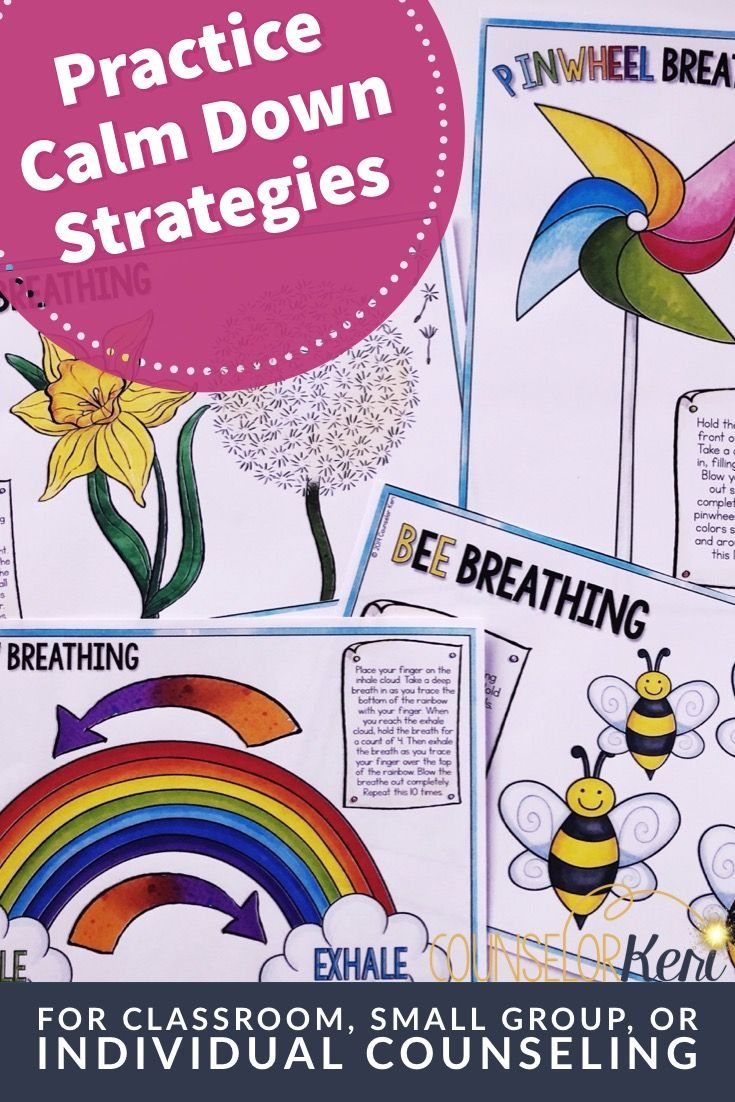 Calming Strategies Activities Classroom Guidance Lesson Cool.
