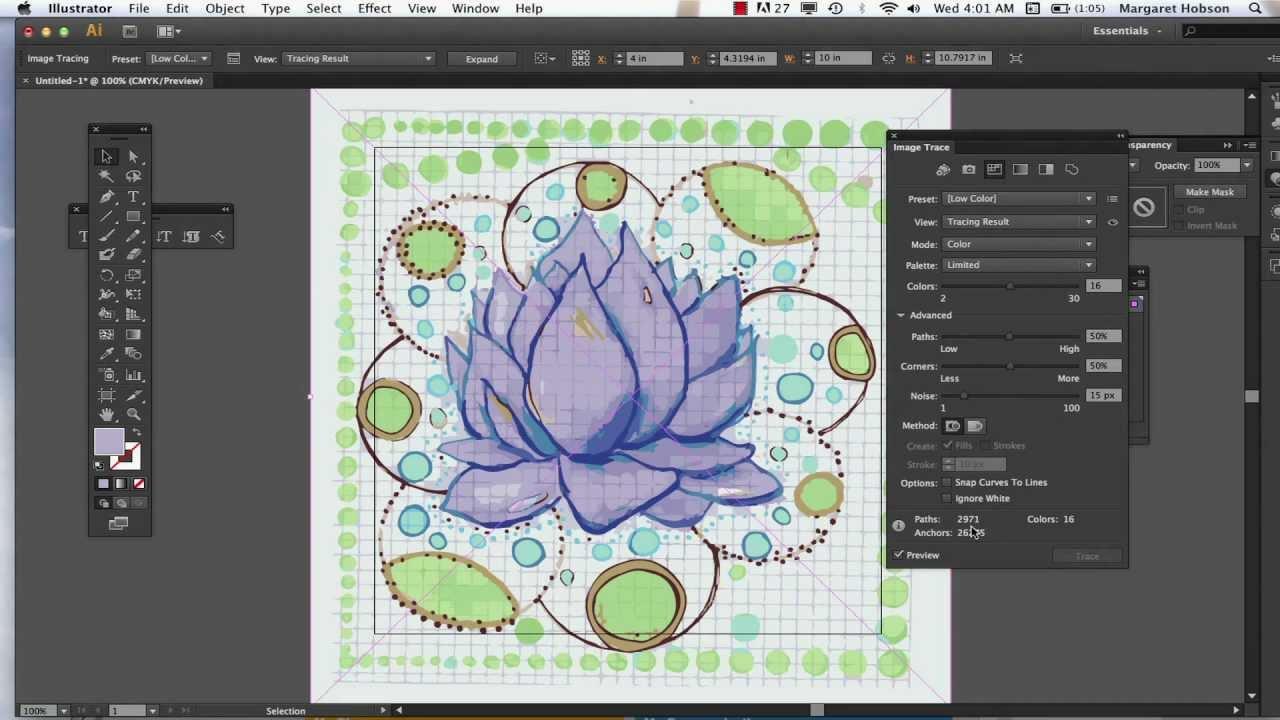 Image Trace in Illustrator CS6.