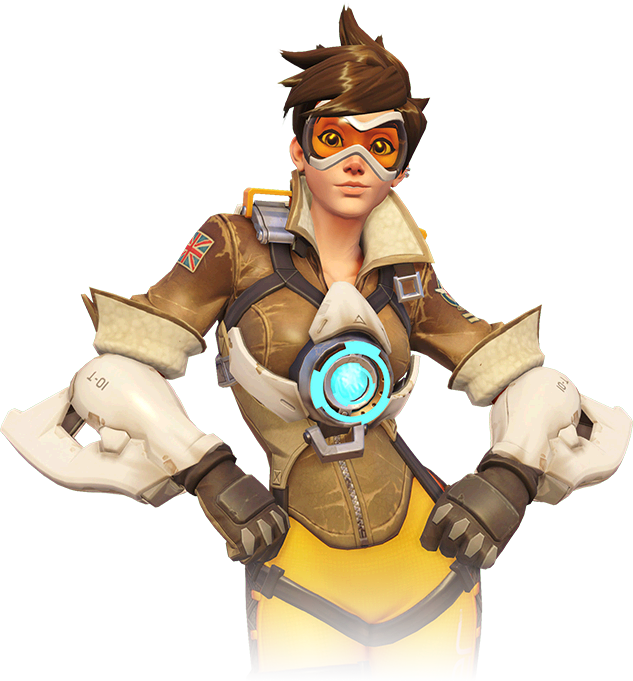Tracer Overwatch Clipart.