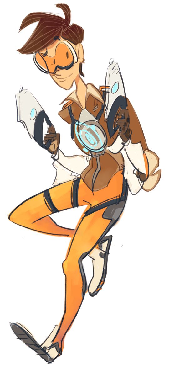 Overwatch tracer clipart.