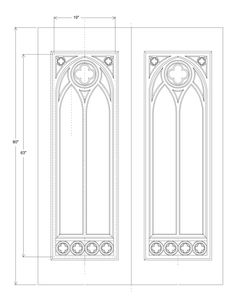 Gothic tracery clipart.