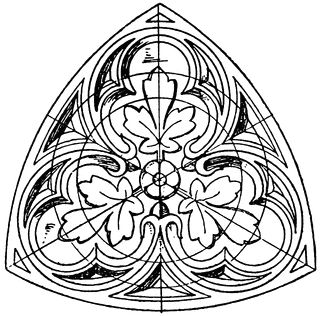 Trefoil Tracery Panel.