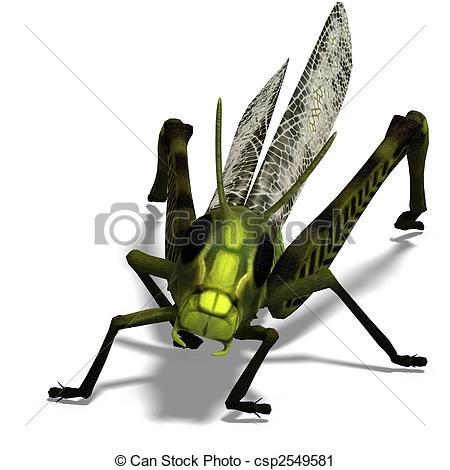Clipart of green grasshopper.