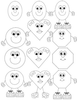 2D SHAPES TRACING CLIP ART.