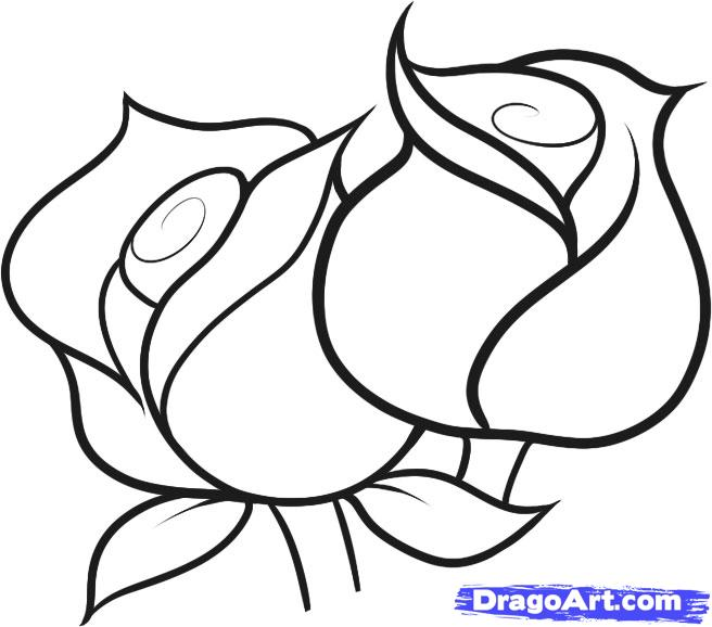 Easy Flowers To Draw.
