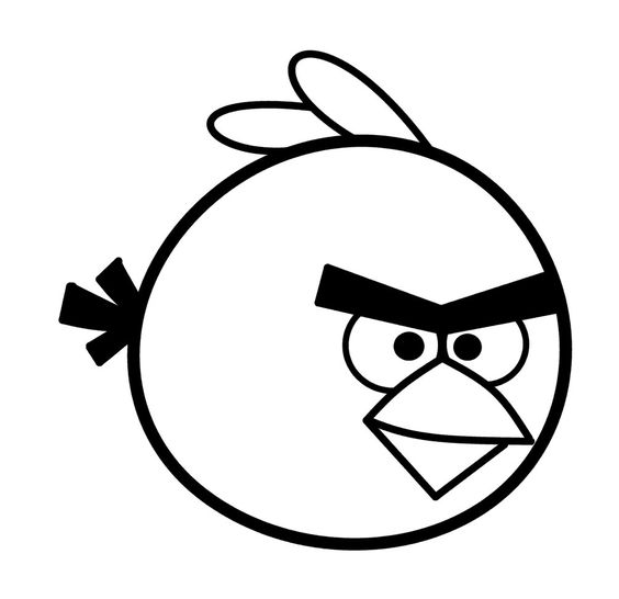 Drawing Cartoon Angry Bird.