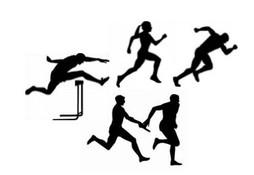 Track And Field Clipart Black White.