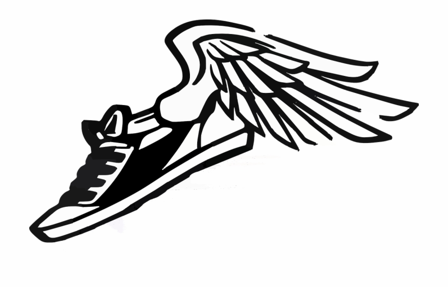 Wings Clipart Track And Field.