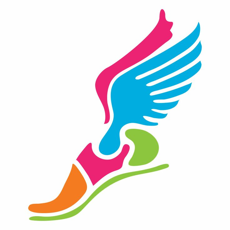Color Running Shoe with Wings.