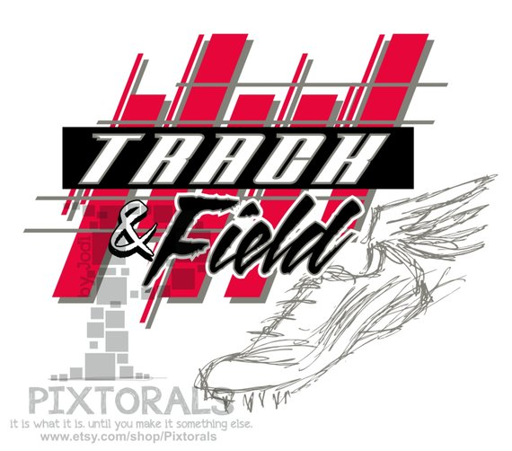 Track and Field Design! Corel, EPS, jpeg, T.