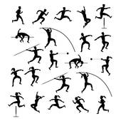 Field And Track Events Clip Art.