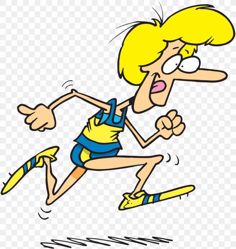 Running Cartoon Track & Field Woman Clip Art, PNG.