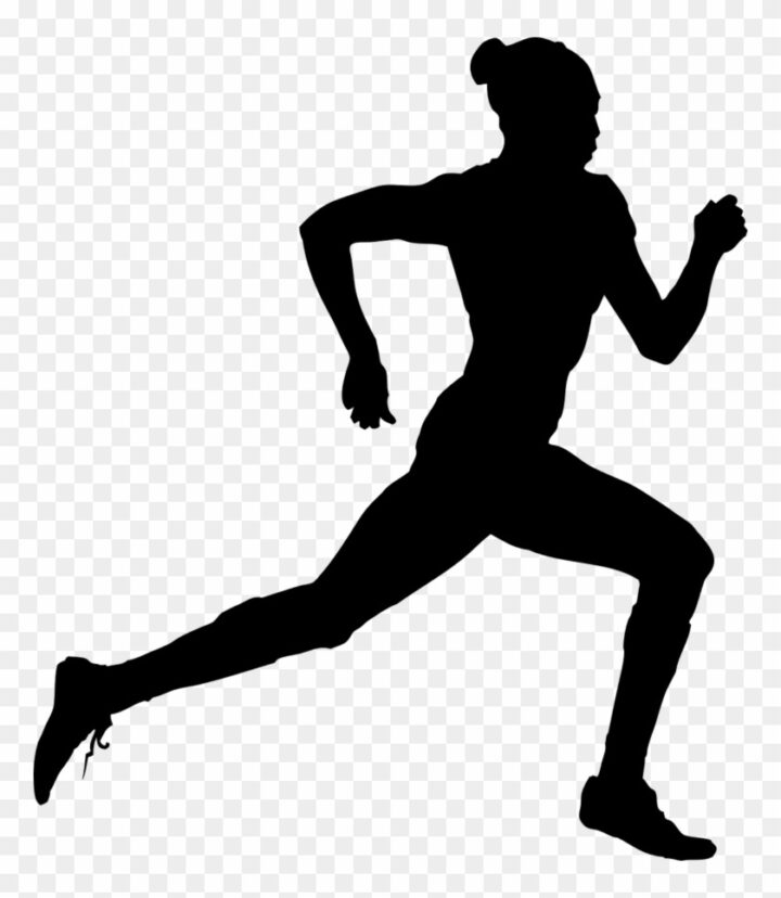 Running Clip Art Track And Field Silhouette Png Image.