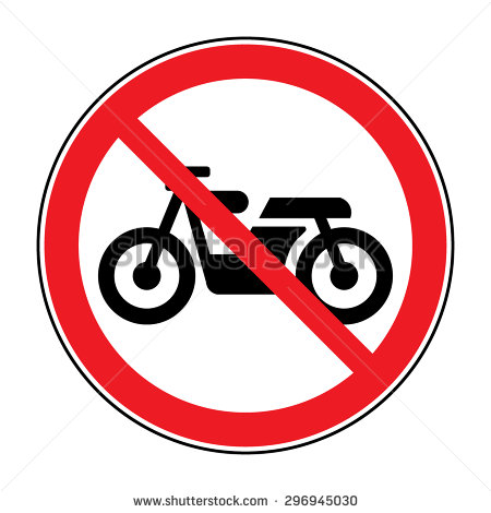 No Cycling Sign Stock Photos, Royalty.