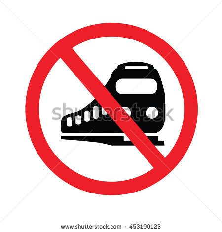 No Train Sign Stock Photos, Royalty.