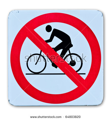 "no Cycling"" Stock Photos, Royalty."