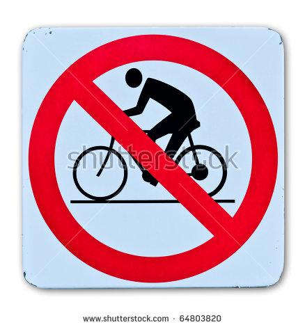 "no Cycling"" Stock Photos, Royalty."