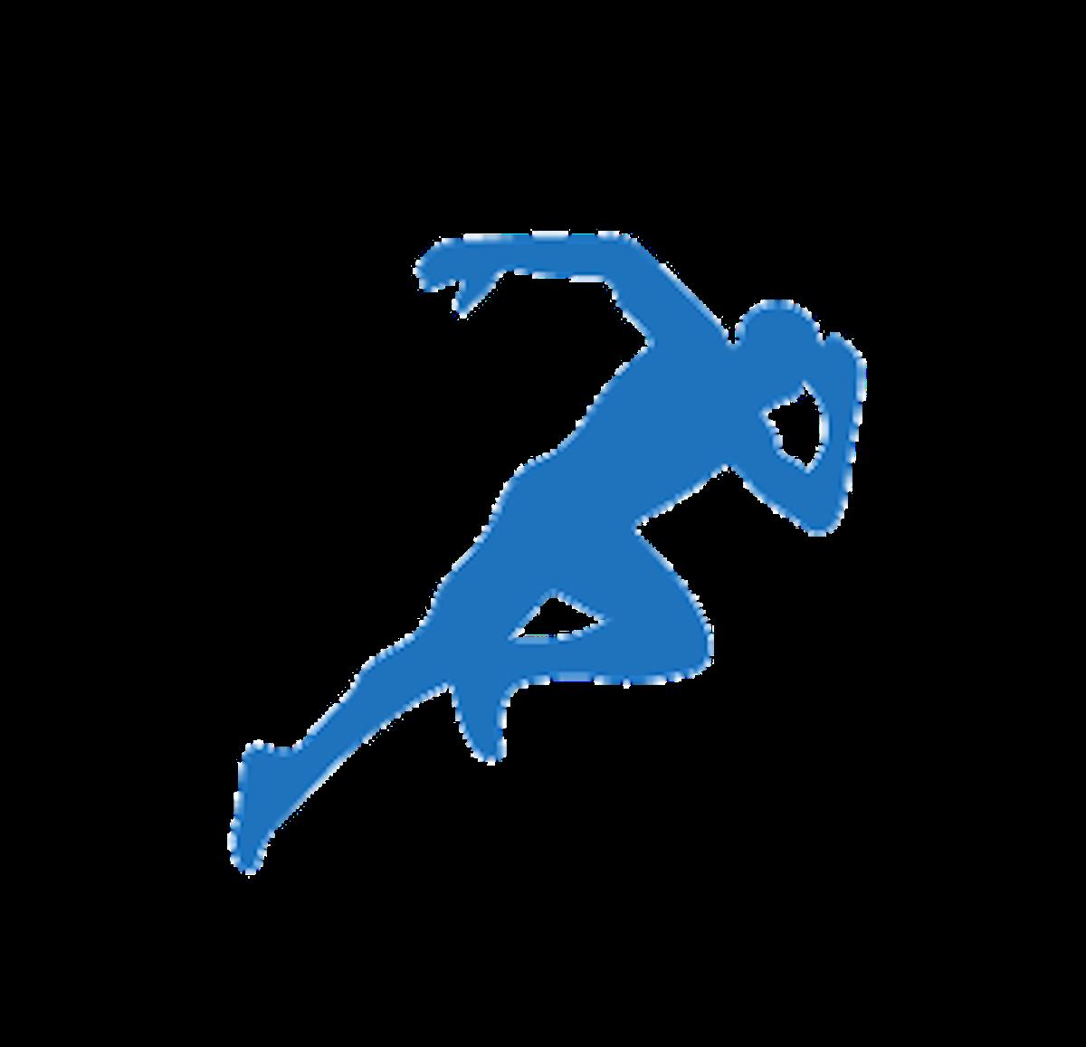 Track & Field Sprint Running Athlete Clip art.