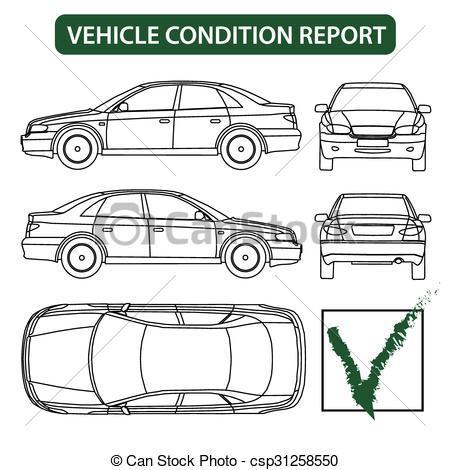 Car inspection clipart.
