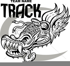 Track Shoe Clipart Free Vector.