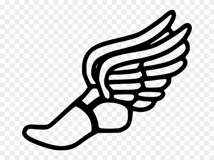 2 Running Shoes Art Running Shoe Track Shoes With Wings.