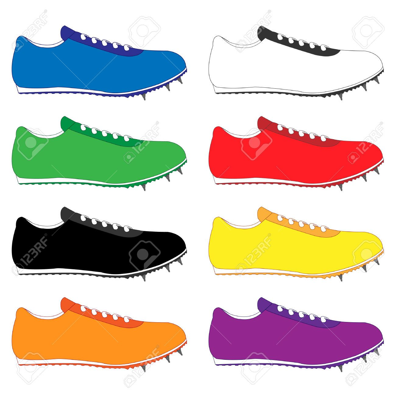 Running Spikes Stock Illustrations, Cliparts And Royalty.