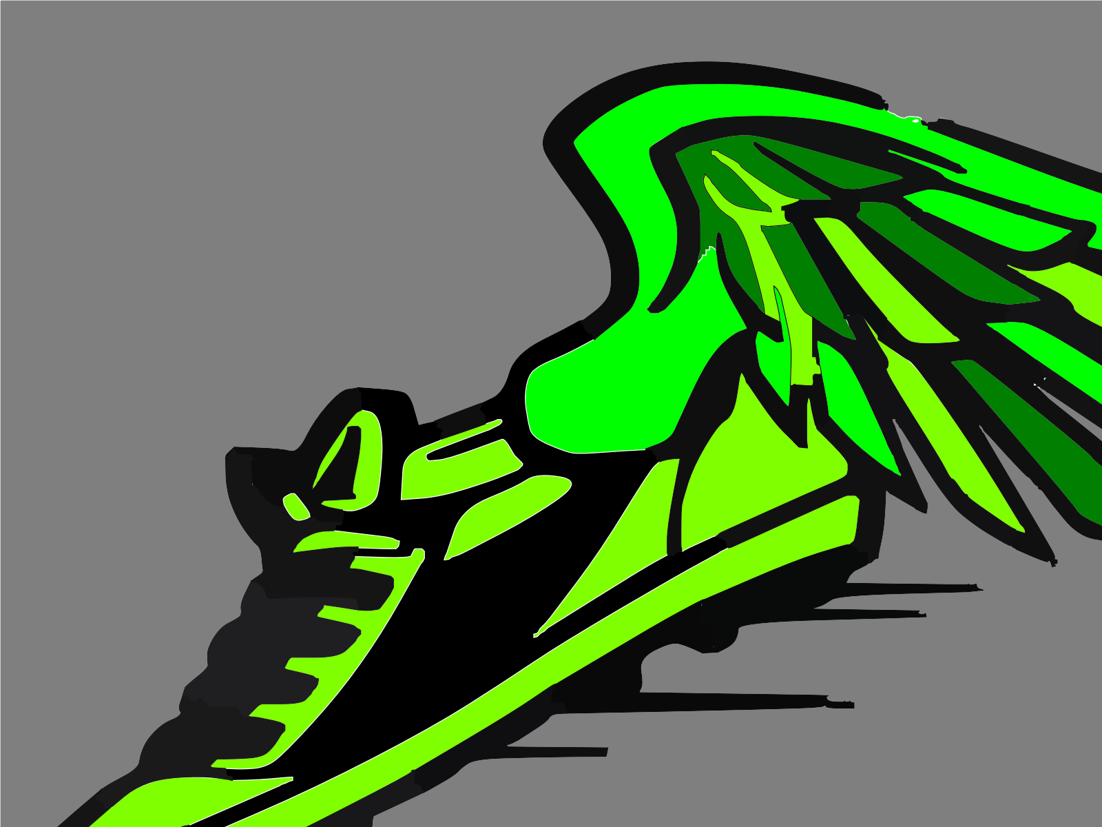 Green Track Spikes Clip art, Icon and SVG.